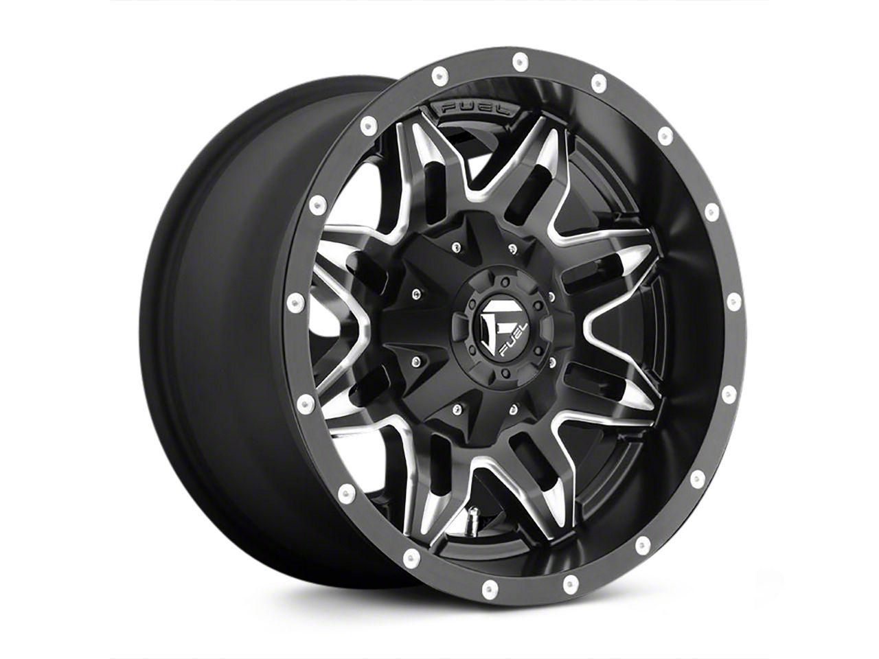 Fuel Wheels Lethal Black Milled Wheel - 18x9 (18-19 Jeep Wrangler JL)