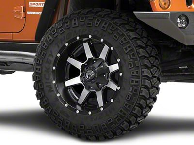 Fuel Wheels Maverick Black Machined Wheel - 20x10 (07-18 Jeep Wrangler JK)