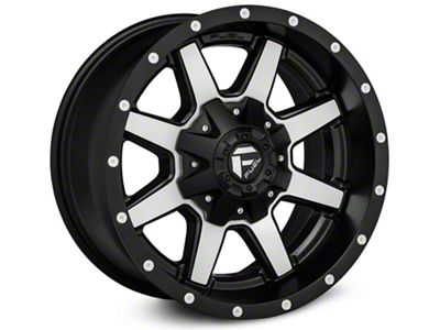Fuel Wheels Maverick Black Machined Wheel - 22x10 (07-18 Jeep Wrangler JK)
