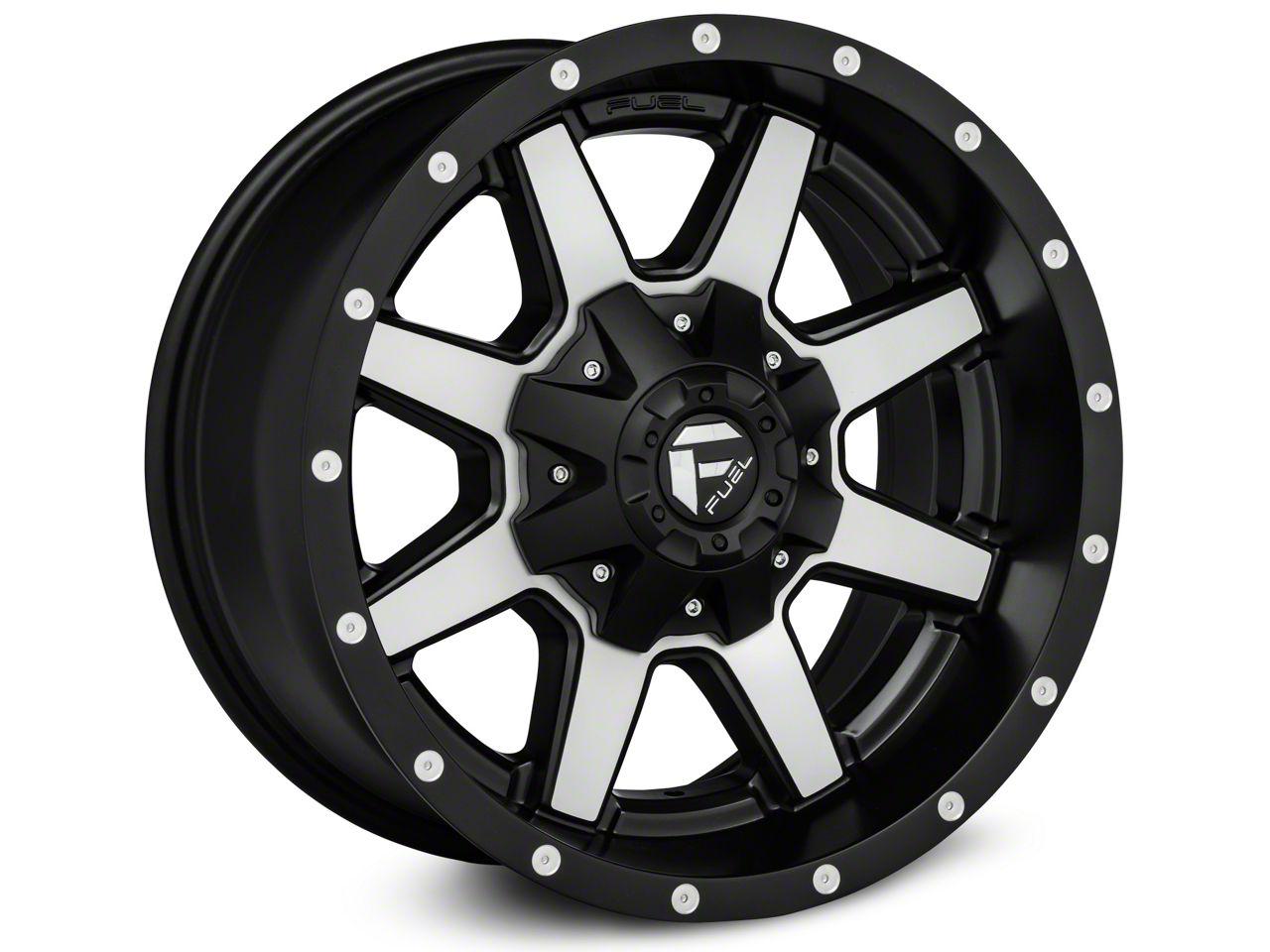 Fuel Wheels Maverick Black Machined Wheel - 18x12 (18-19 Jeep Wrangler JL)