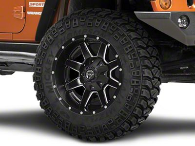 Fuel Wheels Maverick Black Milled Wheel - 20x10 (07-18 Jeep Wrangler JK)