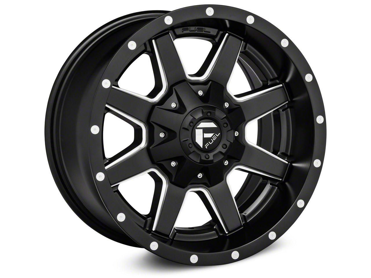 Fuel Wheels Maverick Black Milled Wheel - 17x8.5 (18-19 Jeep Wrangler JL)