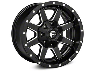 Fuel Wheels Maverick Black Milled Wheel - 22x12 (07-18 Jeep Wrangler JK)