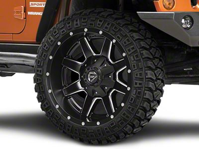 Fuel Wheels Maverick Black Milled Wheel - 24x10 (07-18 Jeep Wrangler JK)
