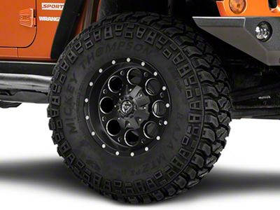 Fuel Wheels Revolver Black Milled Wheel - 17x9 (07-18 Jeep Wrangler JK)