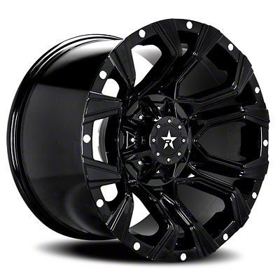 RBP 64R Widow Gloss Black w/ Machined Grooves Wheel - 18x9 (07-18 Jeep Wrangler JK)