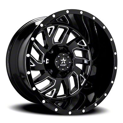 RBP 65R Glock Gloss Black w/ Machined Grooves Wheel - 20x10 (07-18 Jeep Wrangler JK)