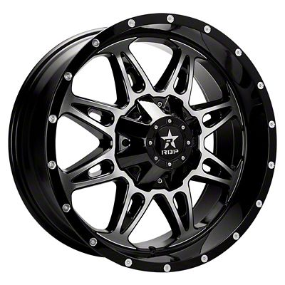 RBP 67R AK-8 Black Machined Wheel - 20x9 (07-18 Jeep Wrangler JK)