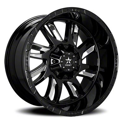 RBP 69R Swat Black w/ Chrome Inserts Wheel - 20x10 (07-18 Jeep Wrangler JK)