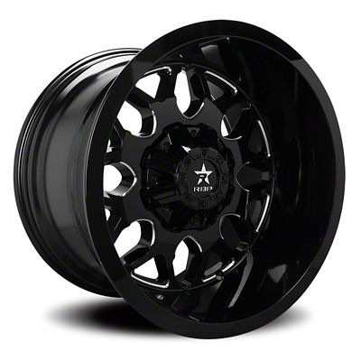 RBP 73R Atomic Gloss Black w/ Machined Grooves Wheel - 20x9 (07-18 Jeep Wrangler JK)