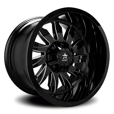 RBP 74R Silencer Gloss Black w/ Machined Grooves Wheel - 20x10 (07-18 Jeep Wrangler JK)