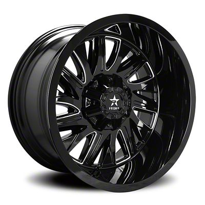 RBP 75R Batallion Gloss Black w/ Machined Grooves Wheel - 20x9 (07-18 Jeep Wrangler JK)