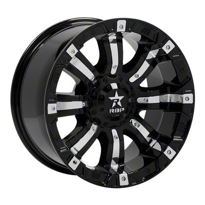 RBP 94R Black w/ Chrome Inserts Wheel - 22x10 (07-18 Jeep Wrangler JK)