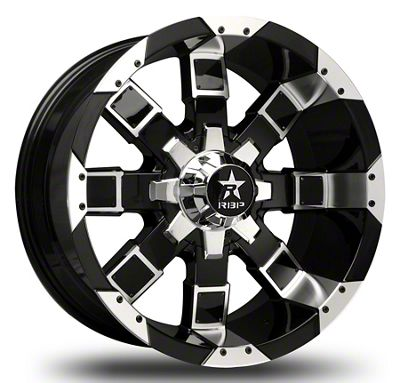RBP 95R Black w/ Chrome Inserts Wheel - 20x10 (07-18 Jeep Wrangler JK)