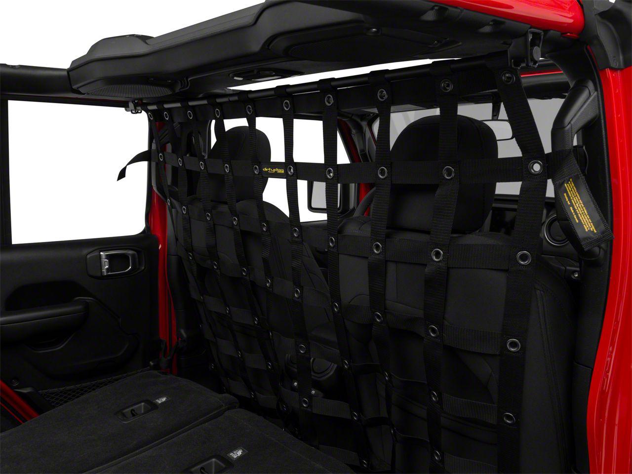 Dirty Dog 4x4 Cargo/Pet Divider - Black (18-19 Jeep Wrangler JL 4 Door)