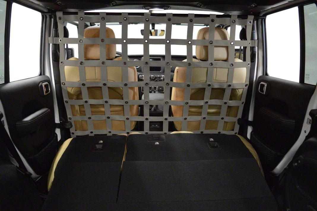 Dirty Dog 4x4 Cargo/Pet Divider - Grey (2018 Jeep Wrangler JL 4 Door)