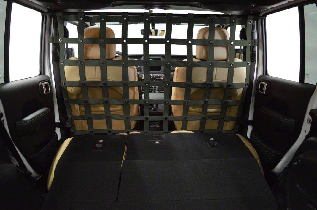 Dirty Dog 4x4 Cargo/Pet Divider - Olive Drab (2018 Jeep Wrangler JL 4 Door)