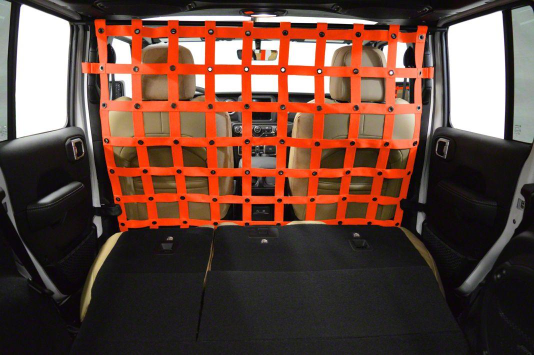 Dirty Dog 4x4 Cargo/Pet Divider - Orange (2018 Jeep Wrangler JL 4 Door)