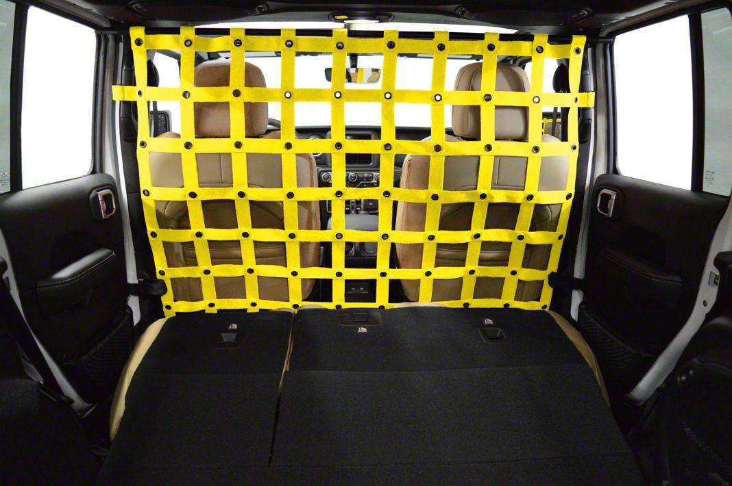 Dirty Dog 4x4 Cargo/Pet Divider - Yellow (2018 Jeep Wrangler JL 4 Door)
