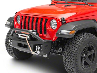 Iron Cross Stubby Front Bumper w/ Push Bar (18-19 Jeep Wrangler JL)