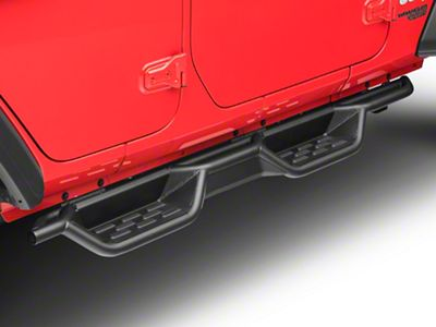 RedRock 4x4 HD Drop Side Step Bars (18-19 Jeep Wrangler JL 4 Door)