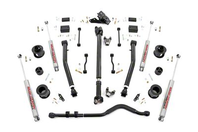 Rough Country 3.5 in. Suspension Lift Kit w/ Adjustable Control Arms - Stage 2 (2018 Jeep Wrangler JL, Excluding Rubicon)