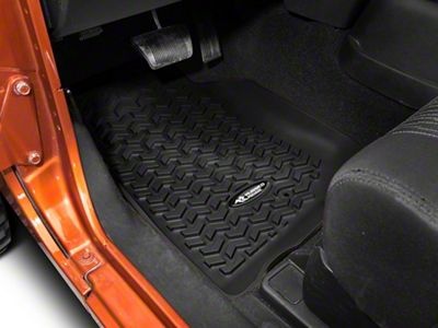 Rugged Ridge All Terrain Front Floor Liners - Black (07-13 Jeep Wrangler JK)