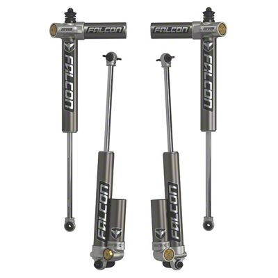 Teraflex Falcon Series 3.2 Adjustable Piggyback Front & Rear Shocks for 2.5-3.5 in. Lift (07-18 Jeep Wrangler JK 2 Door)