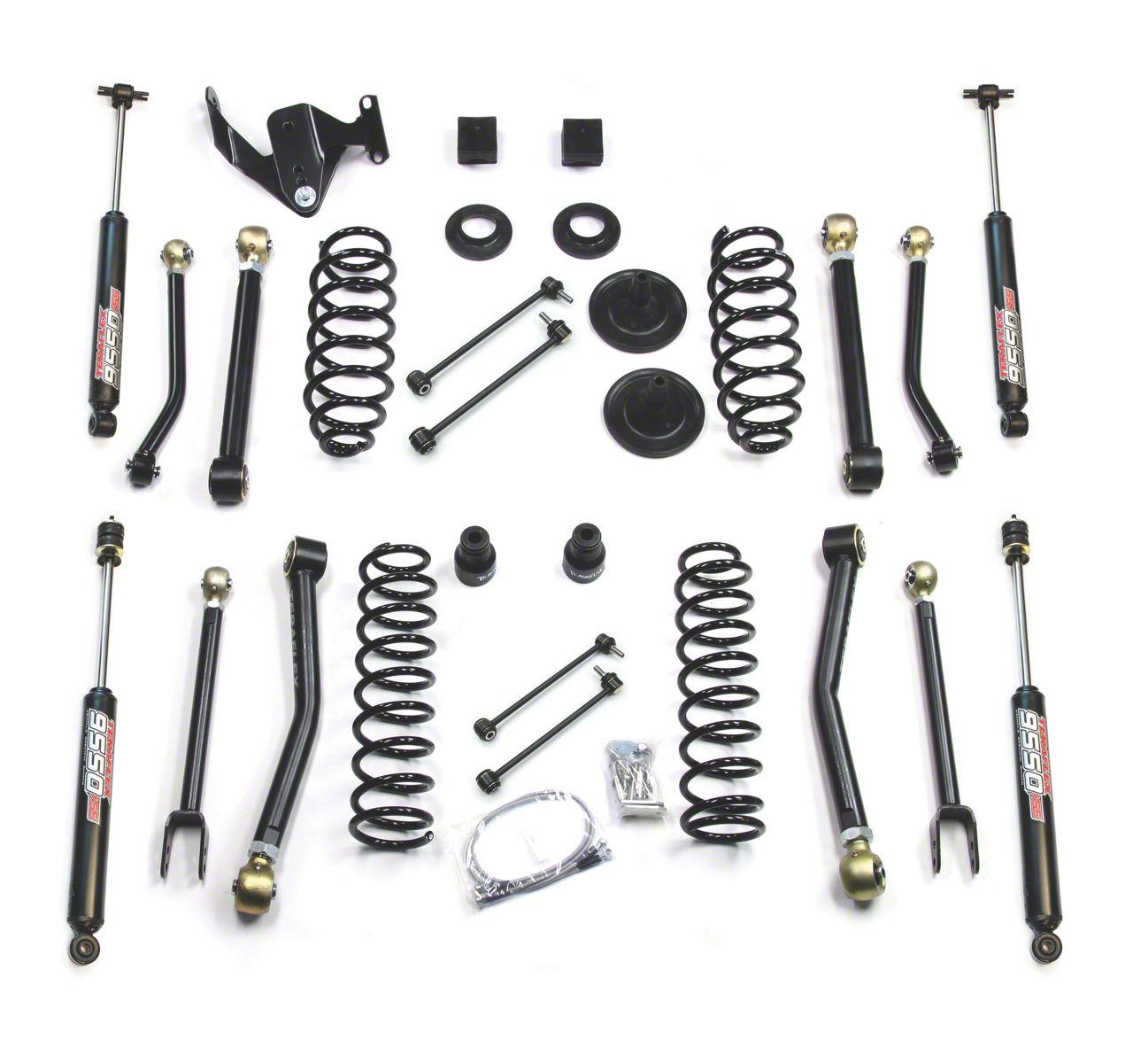 Teraflex 3 in. Lift Kit w/ 8 FlexArms & 9550 Shocks - Right Hand Drive (07-18 Jeep Wrangler JK 2 Door)