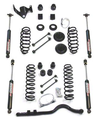 Teraflex 4 in. Lift Kit w/ Track Bar & 9550 Shocks - Right Hand Drive (07-18 Jeep Wrangler JK 2 Door)