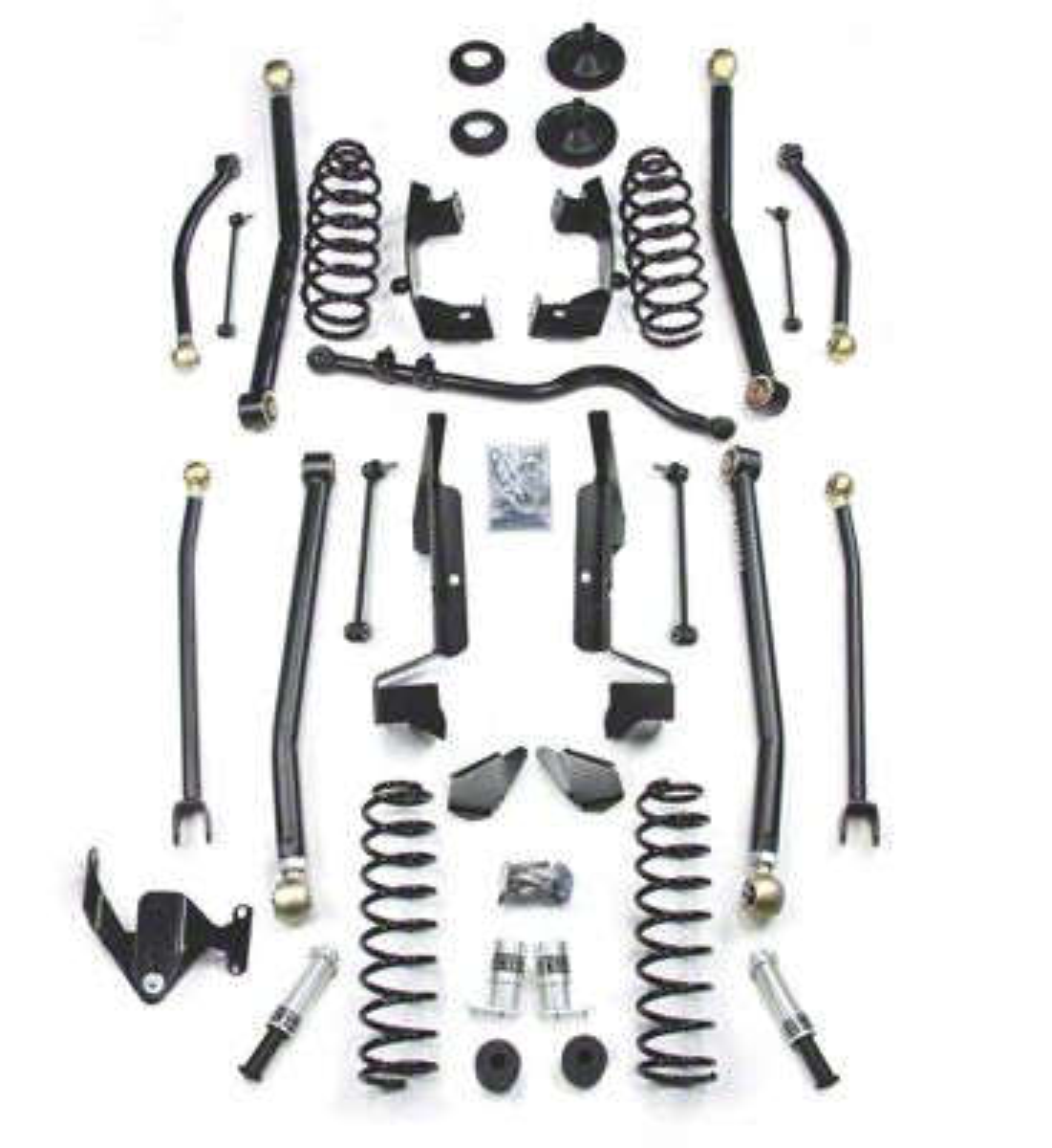 Teraflex 2.5 in. Elite LCG Long FlexArm Lift Kit w/ SpeedBumps - Right Hand Drive (07-18 Jeep Wrangler JK 4 Door)