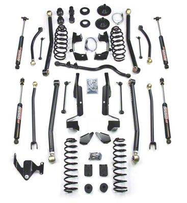 Teraflex 4 in. Elite LCG Long FlexArm Lift Kit w/ 9550 Shocks - Right Hand Drive (07-18 Jeep Wrangler JK 4 Door)