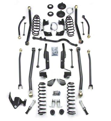 Teraflex 4 in. Elite LCG Long FlexArm Lift Kit w/ SpeedBumps - Right Hand Drive (07-18 Jeep Wrangler JK 4 Door)