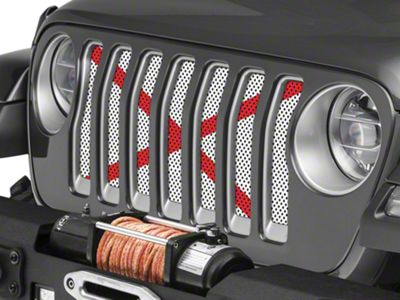 Under the Sun Grille Insert - Alabama State Flag (2018 Jeep Wrangler JL)