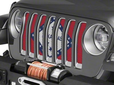 Under the Sun Grille Insert - Arkansas State Flag (2018 Jeep Wrangler JL)