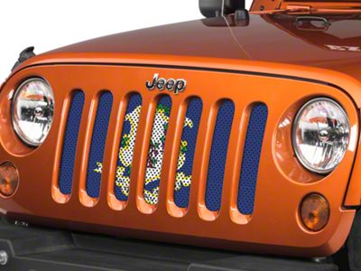 Under the Sun Grille Insert - Connecticut State Flag (07-18 Jeep Wrangler JK)