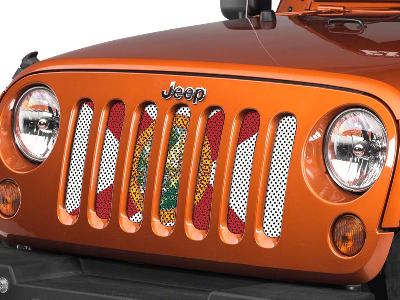 Under the Sun Grille Insert - Florida State Flag (07-18 Jeep Wrangler JK)