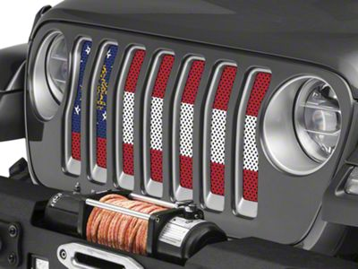 Under the Sun Grille Insert - Georgia State Flag (2018 Jeep Wrangler JL)
