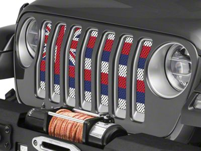 Under the Sun Grille Insert - Hawaii State Flag (2018 Jeep Wrangler JL)