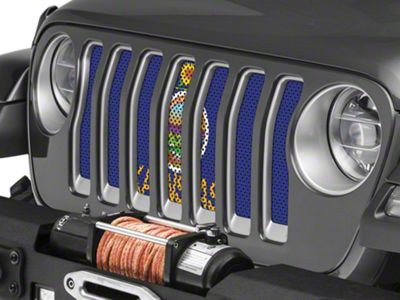 Under the Sun Grille Insert - Kansas State Flag (2018 Jeep Wrangler JL)
