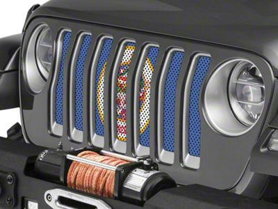 Under the Sun Grille Insert - Minnesota State Flag (2018 Jeep Wrangler JL)