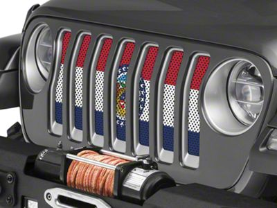 Under the Sun Grille Insert - Missouri State Flag (2018 Jeep Wrangler JL)