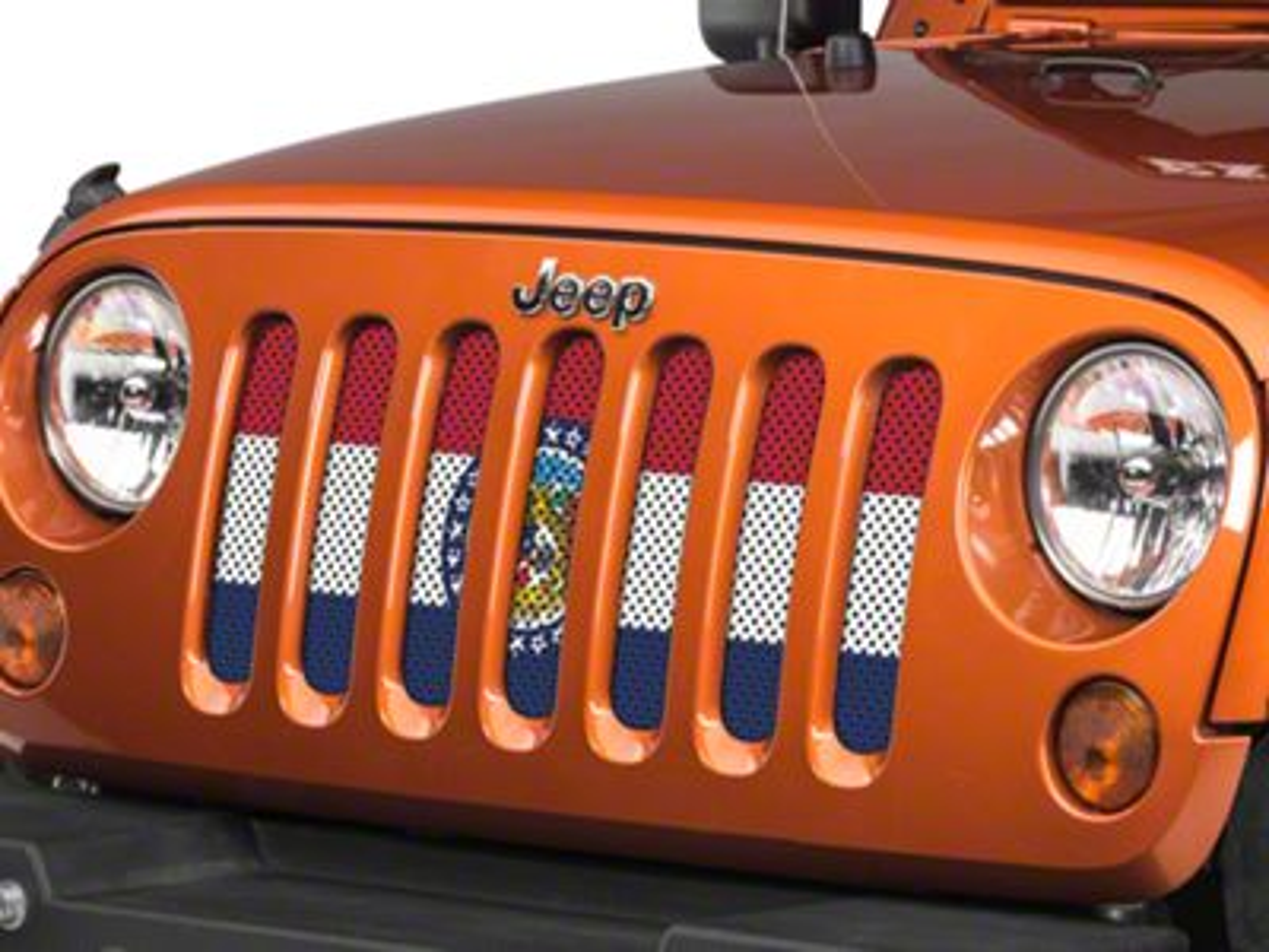Under the Sun Grille Insert - Missouri State Flag (07-18 Jeep Wrangler JK)