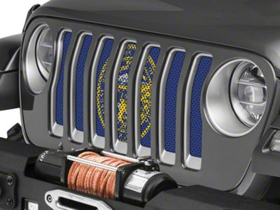 Under the Sun Grille Insert - Nebraska State Flag (2018 Jeep Wrangler JL)