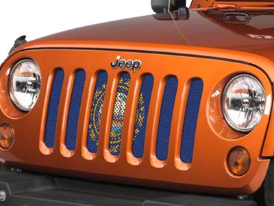 Under the Sun Grille Insert - New Hampshire State Flag (07-18 Jeep Wrangler JK)