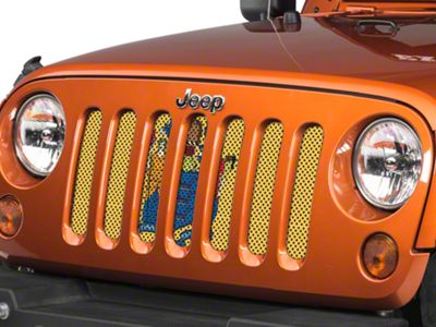 Under the Sun Grille Insert - New Jersey State Flag (07-18 Jeep Wrangler JK)