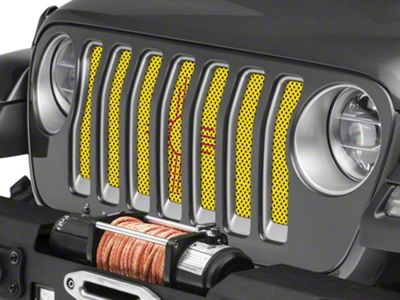 Under the Sun Grille Insert - New Mexico State Flag (2018 Jeep Wrangler JL)