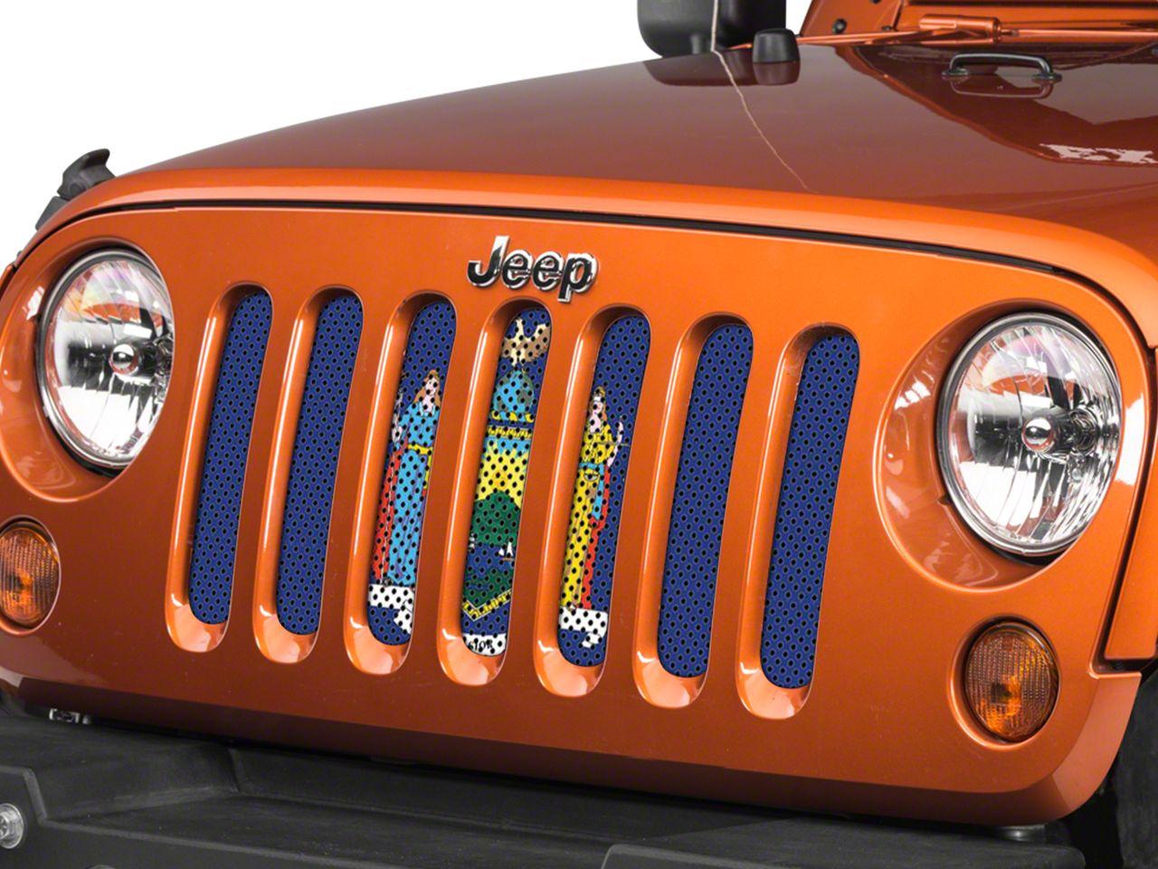 Under the Sun Grille Insert - New York State Flag (07-18 Jeep Wrangler JK)