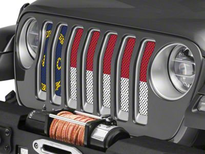 Under the Sun Grille Insert - North Carolina State Flag (2018 Jeep Wrangler JL)