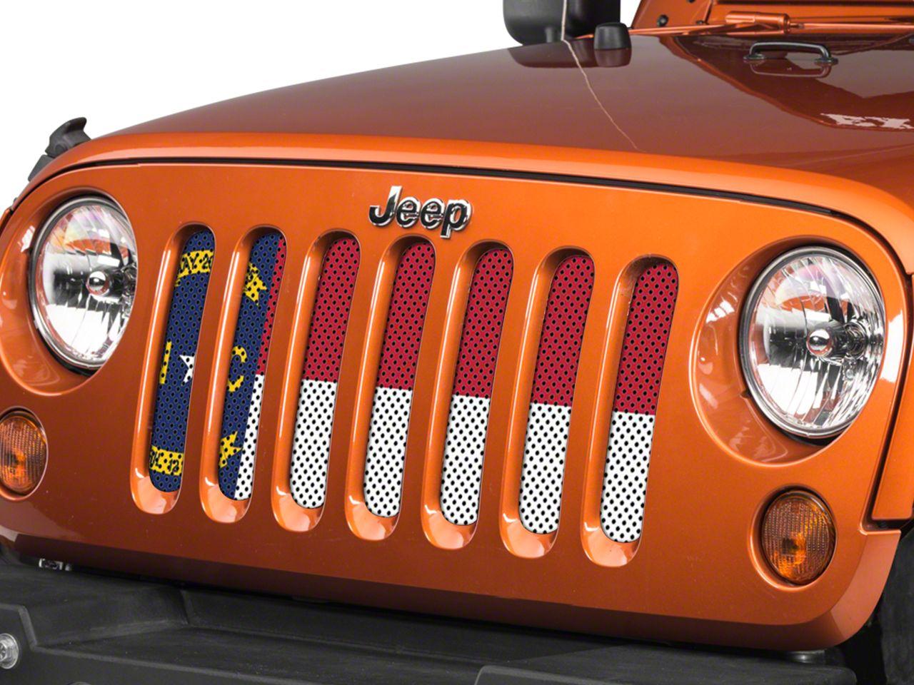 Under the Sun Grille Insert - North Carolina State Flag (07-18 Jeep Wrangler JK)